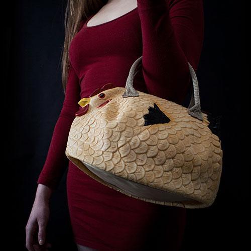 Dekorative Hühnerhandtasche