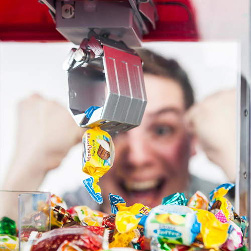 Greifarmautomat Süßigkeiten zu Hause