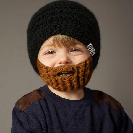 Strick-Bart Mütze für Kinder