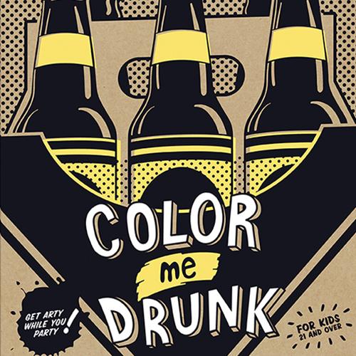Malbuch für Betrunkene Color me Drunk