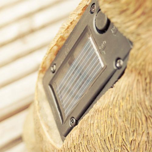 Erdhörnchen Solarleuchten selbstleuchtend für den Garten und den Balkon