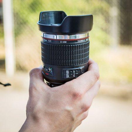 Kameraobjektiv Becher als Geschenk für Menschen, die gern fotografieren