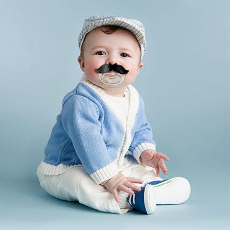 Schnurrbart Schnuller Geschenk für Babys