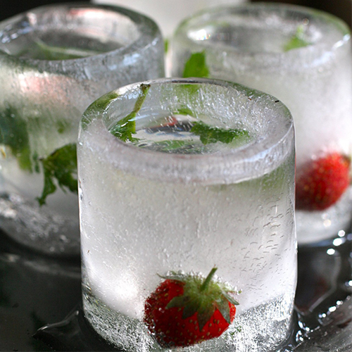 Gläser aus Eis als Geschenk für Freunde