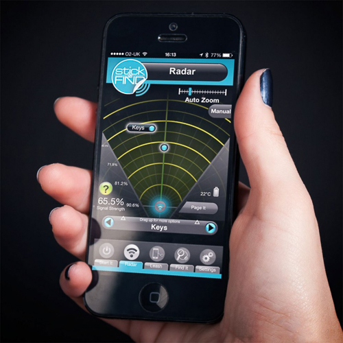 Gadget Geschenk: Bluetooth Sticker zum Finden von verlegten Dingen