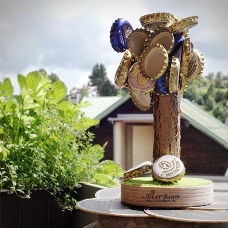 Kronkorken Skulptur Bierbaum Geschenk für Biertrinker