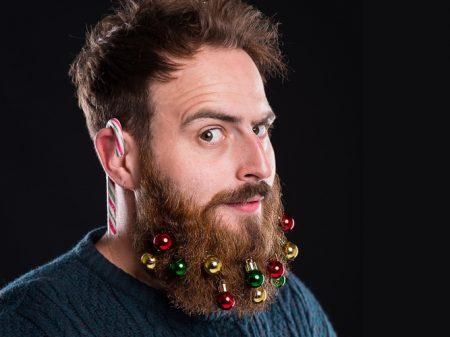 Christbaumkugeln für den Bart - Weihnachtsgeschenk für Bartträger