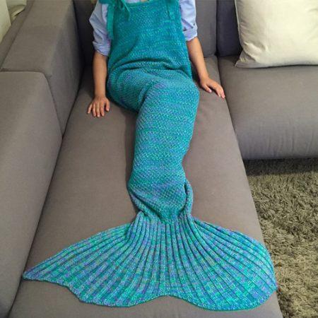 Meerjungfrauen Decke - warme Kuscheldecke fürs Sofa