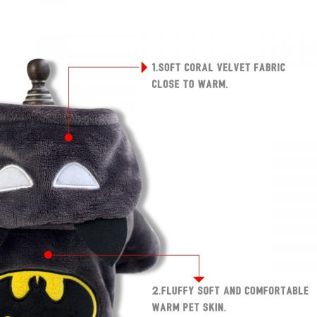Hundekostüm Batman Details
