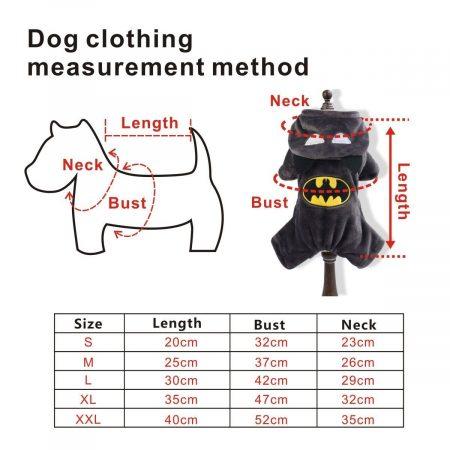 Hundekostüm Batman Eigenschaften