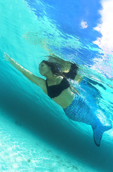 Meerjungfrauen Schwanz Flosse Monofin für Kinder und Erwachsene