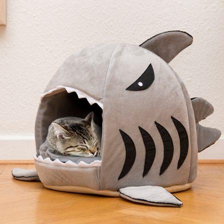 Katzenkorb Hai