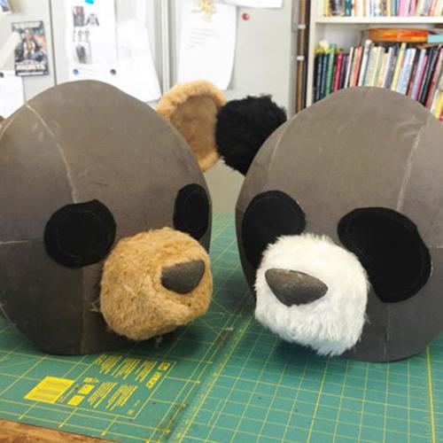 Panda Kopf für Erwachsene
